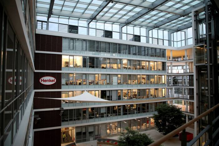 The Düsseldorf headquarters of the 144-year-old consumer goods group, whose current chairwoman is a great-great-granddaughter of founder Fritz Henkel