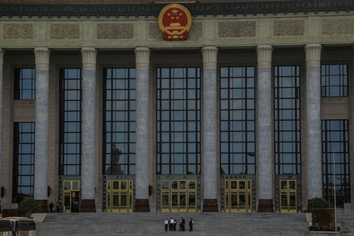 The Great Hall of the People in Beijing, where Xi Jinping will address the National People's Congress while China faces huge economic challenges and the coronavirus pandemic