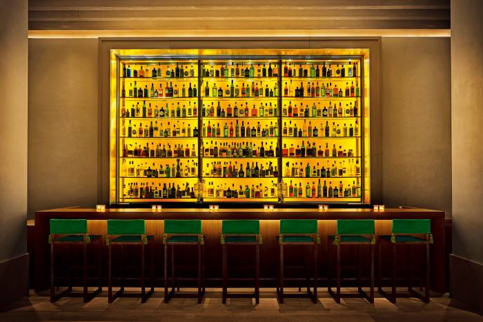 The Rockwell-designed bar at The NewYork Edition Hotel