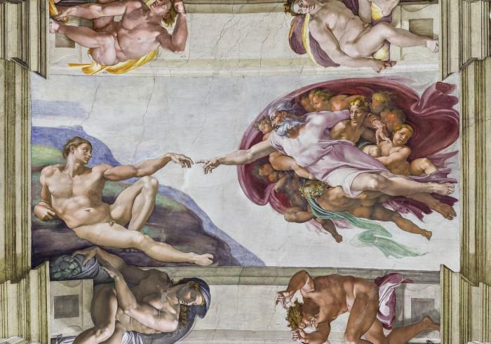 Creazione di Adamo, ceiling fresco by Michelangelo