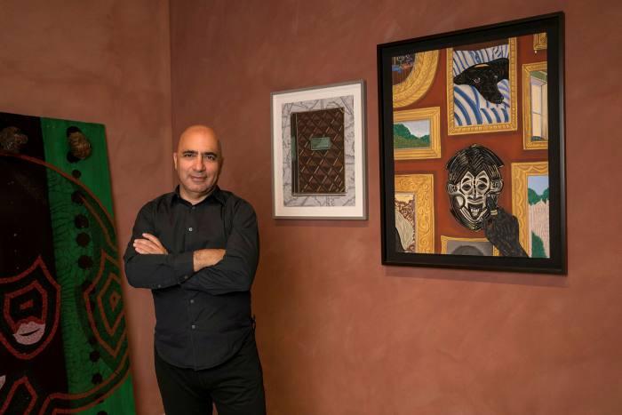 Harry David with works by Chris Ofili and Toyin Ojih Odutola