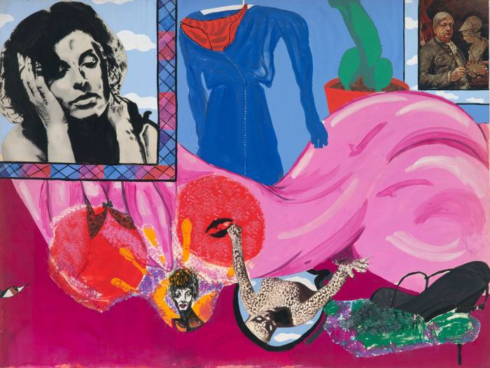 Axell's Tiger Woman (Autoportrait) – a 1964 collage