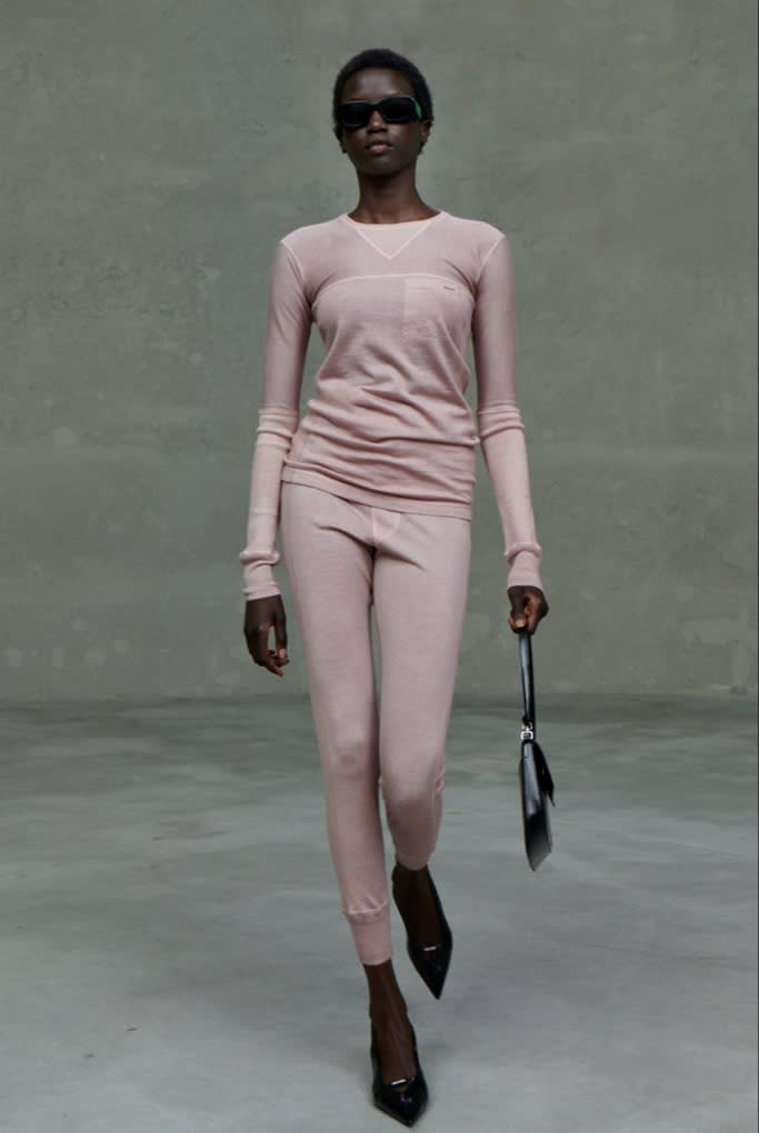 A luxe tracksuit at Prada