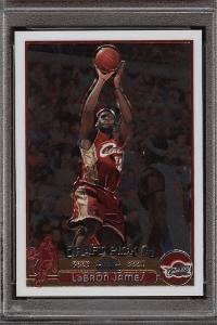A 2003 Topps Chrome LeBron James #111 trading card