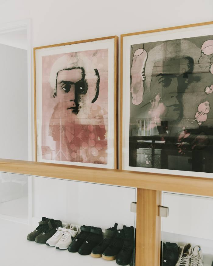 Two of the triptych of monotype portraits Berryman made of Stanley Kubrick
