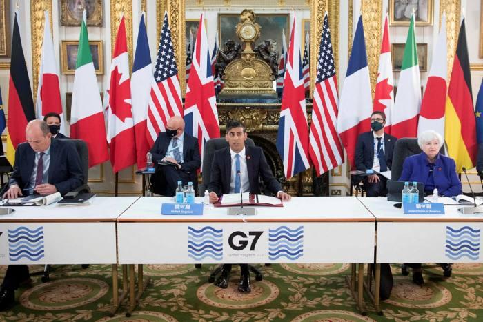 British Chancellor Rishi Sunak and US Treasury Secretary Janet Yellen