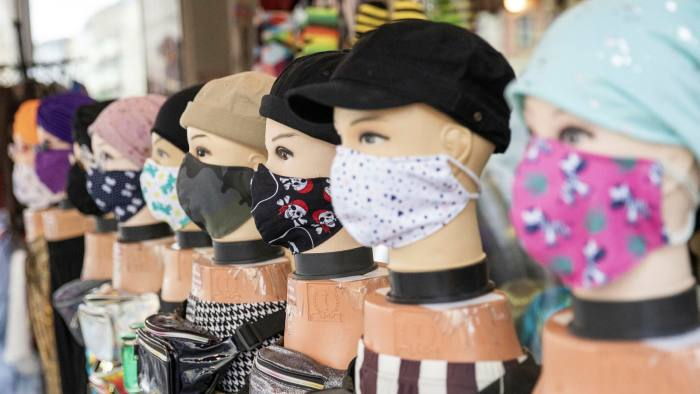 Mannequins in face masks in a Berlin store. Germany has accounted for 52% per cent of EU-approved aid