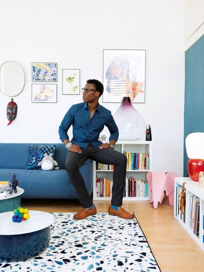 Designer IniArchibong at home in Neuchâtel