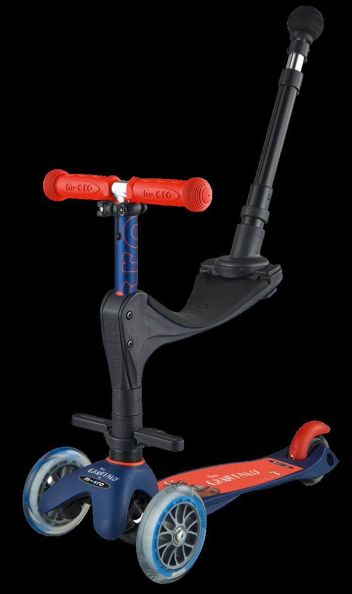 Mini Micro 3-in-1 Deluxe Gruffalo push along scooter