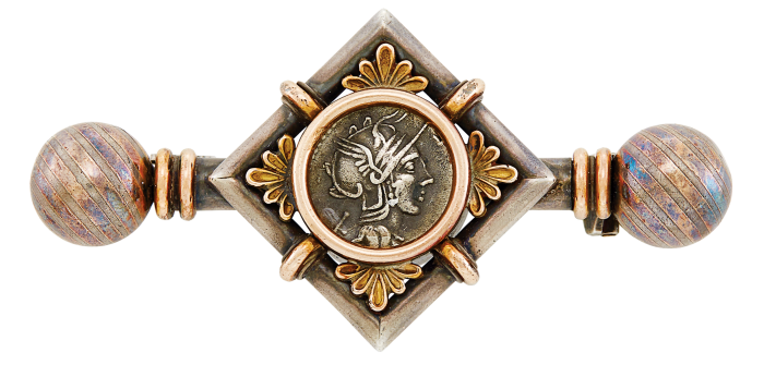 Castellani & Giuliano ancient-coin brooch, sold for $1,375 at Doyle Auctions