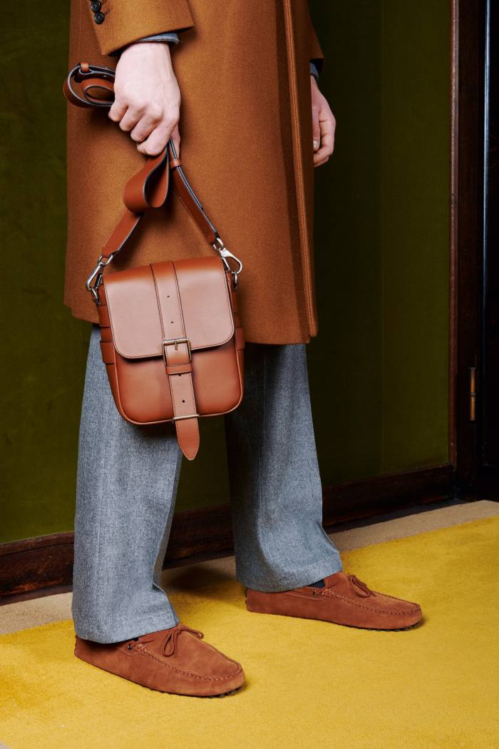 A leather satchel from the a/w 2020 collection