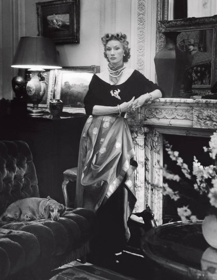 Millicent Rogers photographed at home for Vogue, 1947