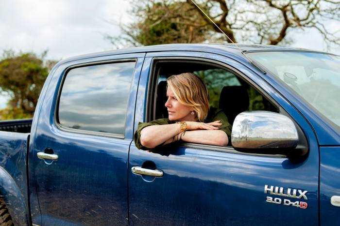The author in her Toyota HiLux