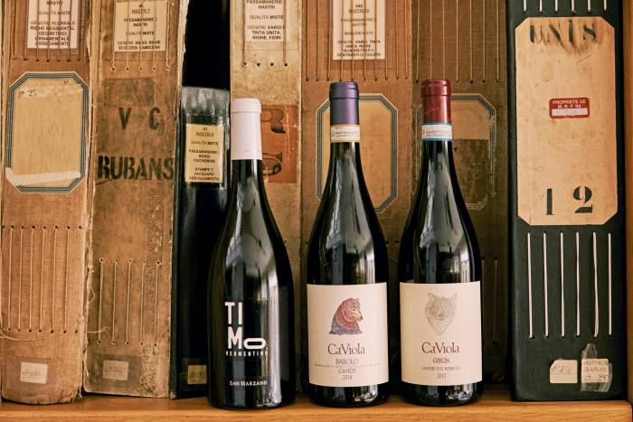 A selection from his wine cellar