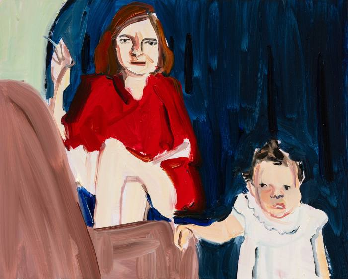 Train to Vermont, 2020, by Chantal Joffe