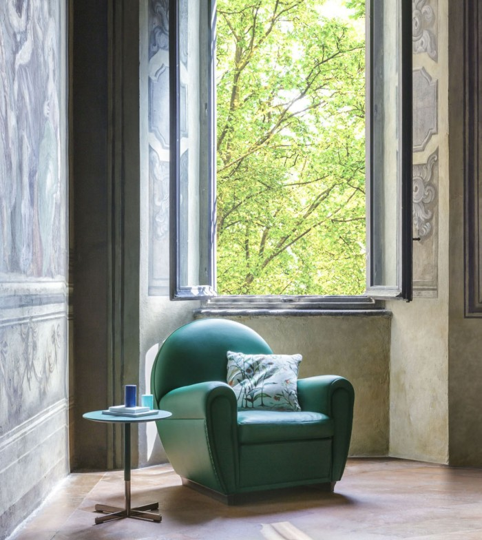 Poltrona Frau's new Future of Heritage collection will include a reimagining of its well-known Vanity Fair armchair