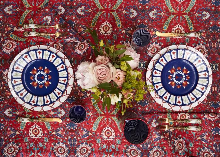 Cabana rectangular Persia table linen, £430