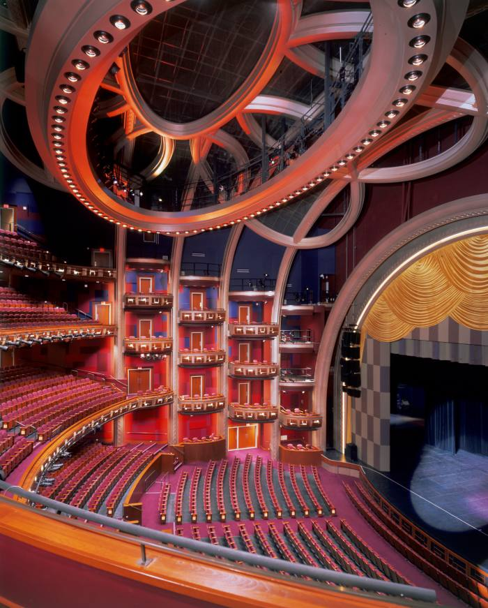 The David Rockwell -designed interior of theDolby Theatre in Hollywood