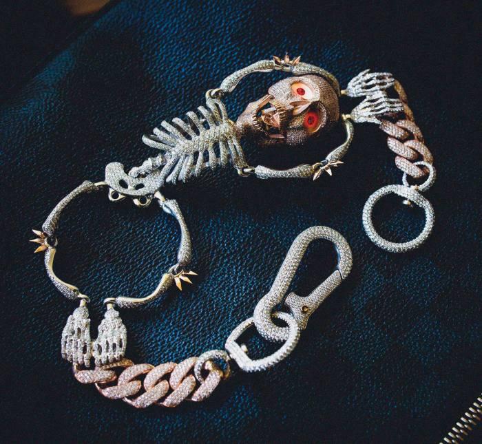 GLD skeleton made for Trippie Redd, $100,000