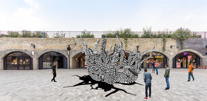 Artist's impression of the French designer Marlène Huissoud's new installation Unity at Coal Drops Yard
