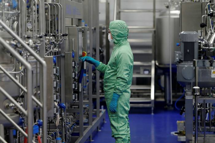 A manufacturing facility of CanSino Biologics in Tianjin, China