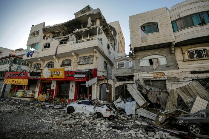 The aftermath of overnight Israeli air strikes in Gaza