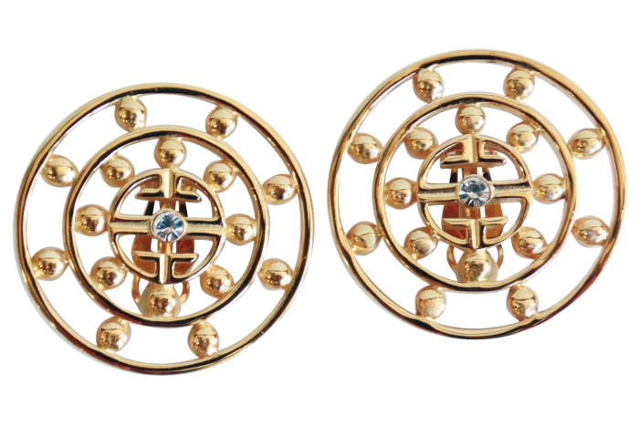 Above: 1980s Givenchy earrings, £470 from1stdibs