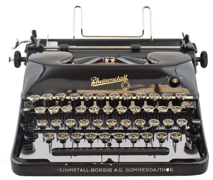 Rheinmetall Georgian, sold by Mr & Mrs Vintage Typewriters for £3,600