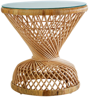 Hill Rise Dahlia rattan table, £279, latzio.com