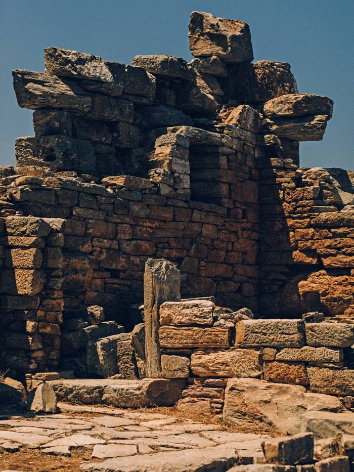 The 4th-century BC tower of Ayia Triada (Holy Trinity), named after a nearby Byzantine church