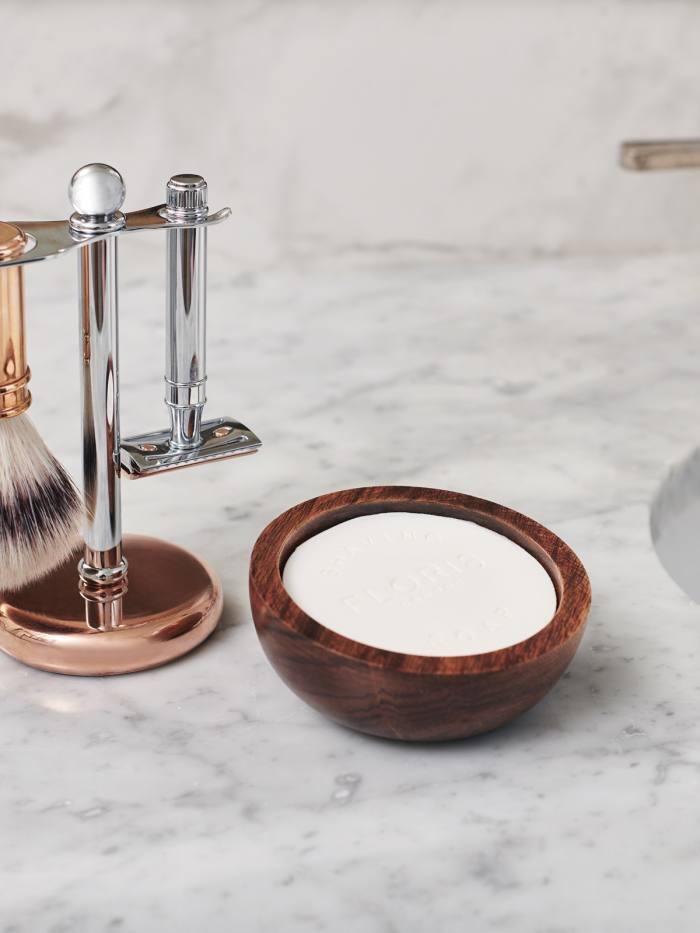 Floris Elite shaving soap and bowl, £35