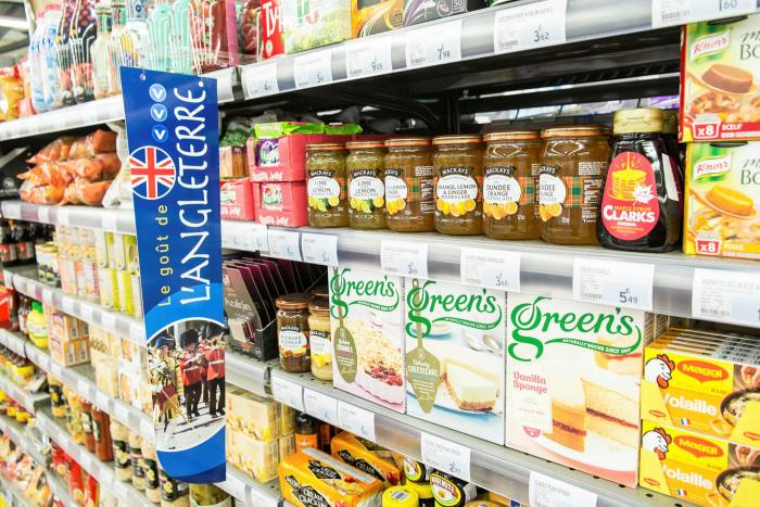 British produce in a French supermarket: 'The pressure is definitely on for those British buyers who want to move to France,' says a local estate agent