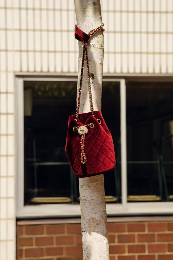 Chanel velvet drawstring bag, £3,160