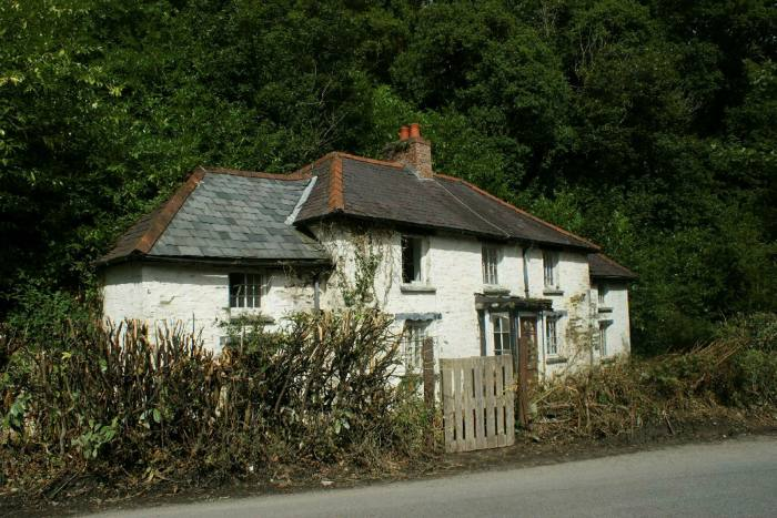 This partly collapsed 18th-century house in Henllan, a village in west Wales, is being auctioned next month, guide price £79,000