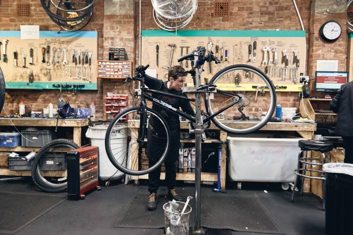 Maria, one of the The Bike Project's mechanics