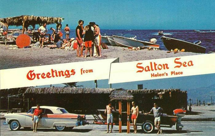 By the 1950s, the accidental sea had bloomed into a popular resort, dubbed the 'Salton Riviera', with a yacht club, motels, and water-skiing, but the 'miracle' was short lived