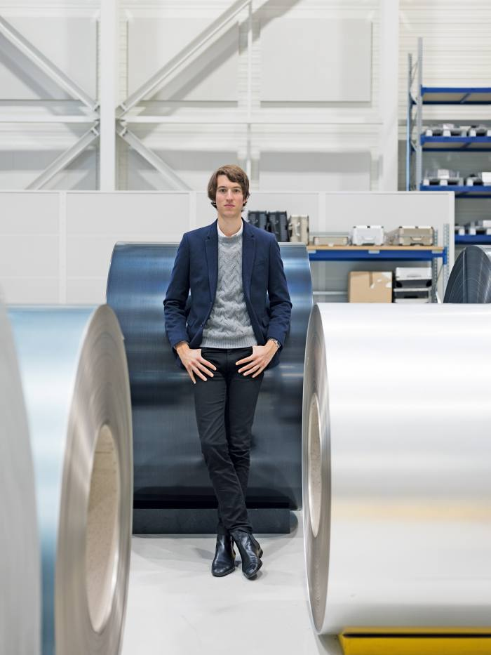 Rimowa CEO, Alexandre Arnault, at the company factory in Cologne