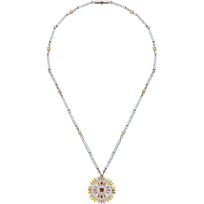 De Beers white-, yellow- and rose-gold anddiamond Motlatse Marvel necklace, POA