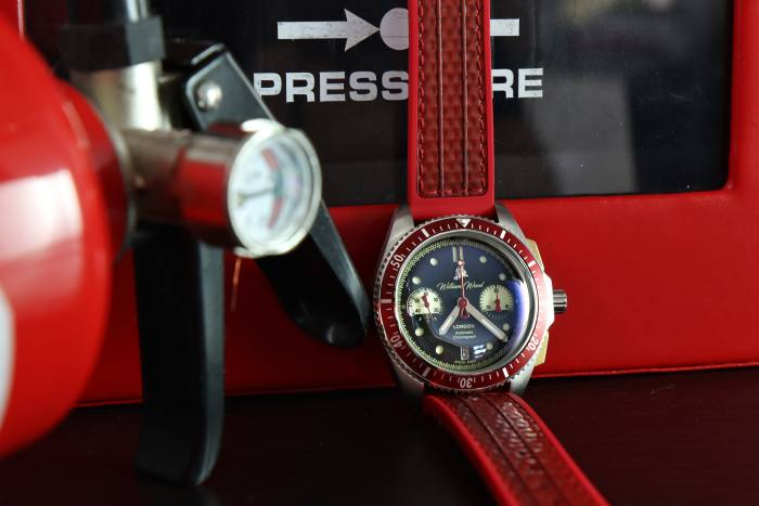 William Wood Watches' one-of-a-kind, fire engine-inspired timepiece