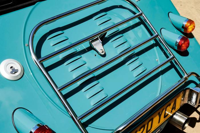 the optional luggage rack, anessential extra