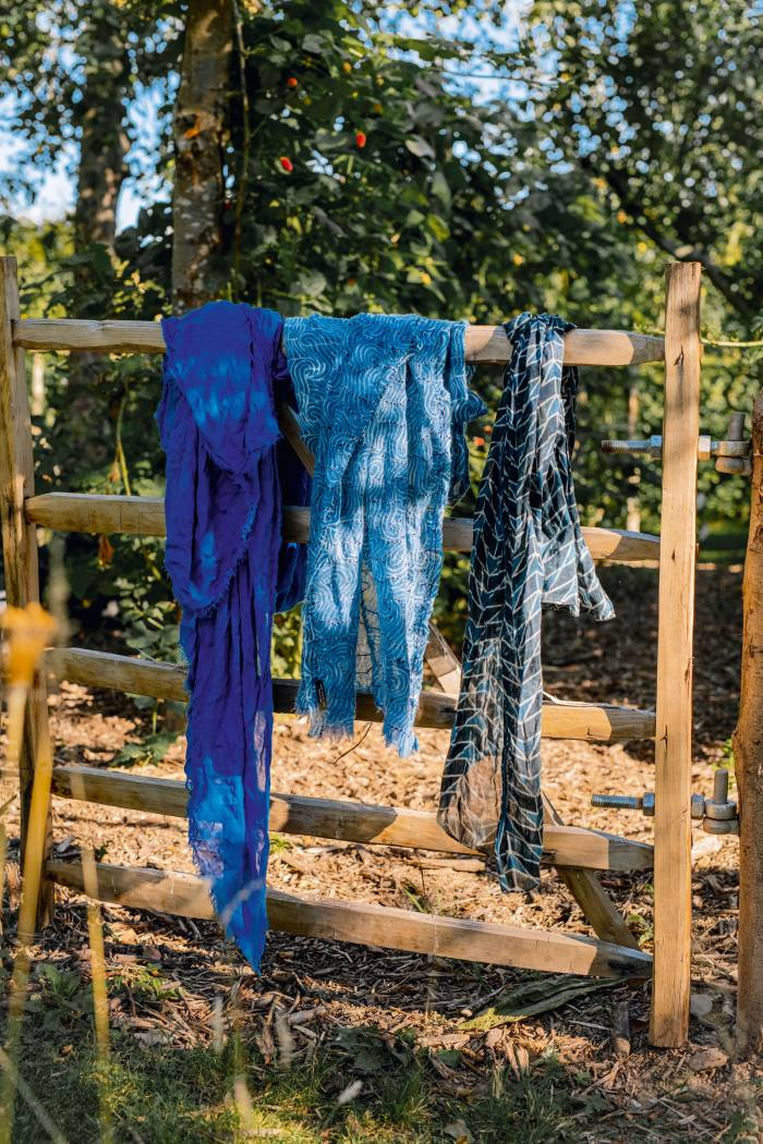 A few of his scarves, bought on Hydra, Greece