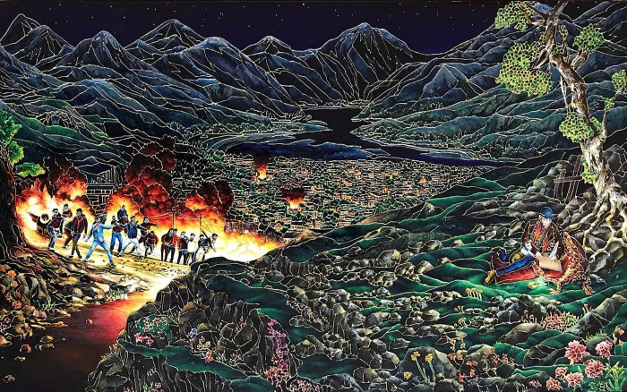 Raqib Shaw's piece for the 'Scorched Earth' auction