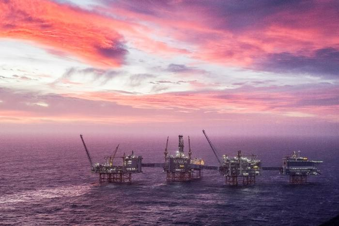 The Johan Sverdrup oil field off Norway. The country's $1tn oil fund said last year it would sell out of companies that are purely focused on exploration and production