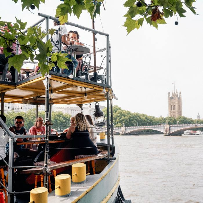 Nab a seat at the stern for stunning views