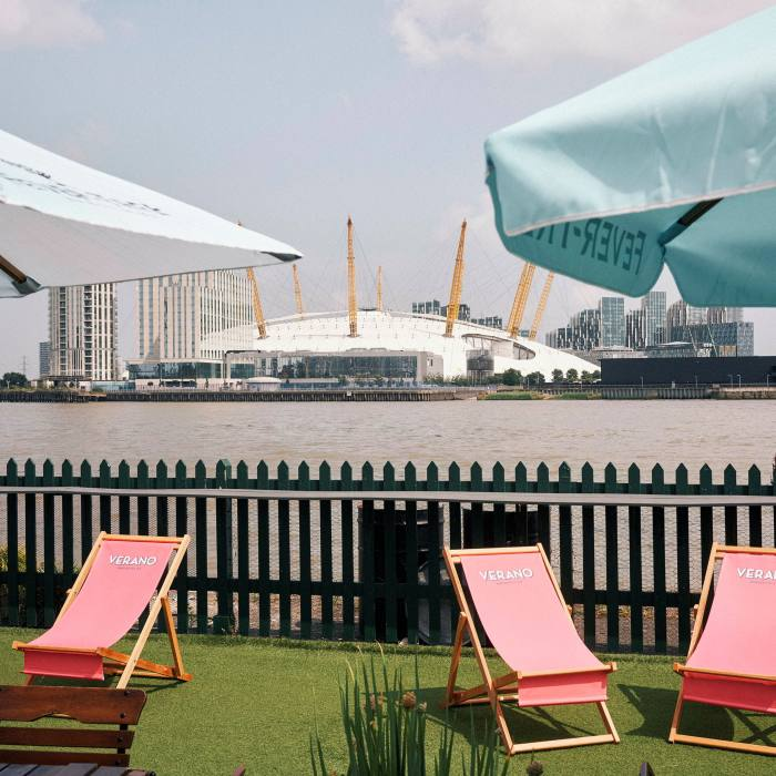 The 02 Centre – formerly the Millennium Dome – sits on the other side of the river