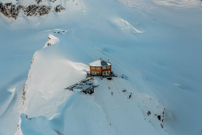 Sheldon Chalet, above Denali's Ruth Glacier