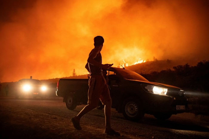 Toxic atmosphere: wildfires such as this blaze in Morocco are becoming more frequent, with dire consequences for air quality