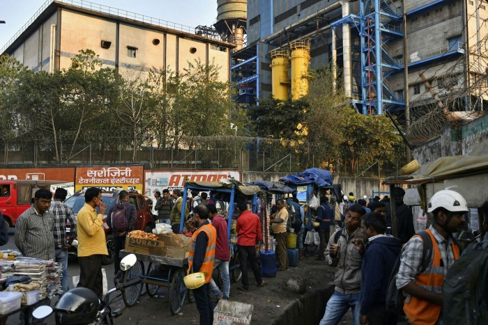 Stalls outside a Tata Steel plant in Jamshedpur, Jharkhand, India. The company is shifting its focus to the country's 1.4bn population
