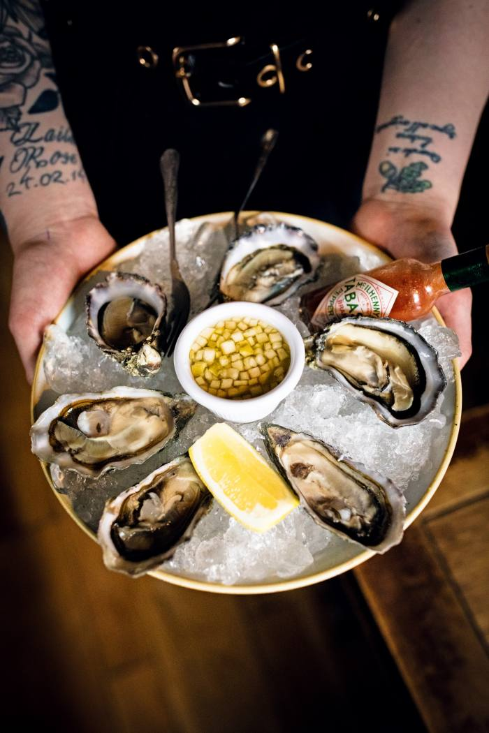Oysters at The Copper Dog
