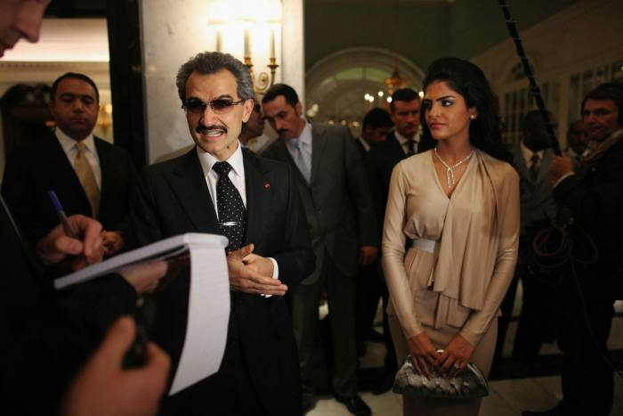 Savoy owner Prince Alwaleed bin Talal and his wife Princess Ameera at the hotel's grand reopening in 2010
